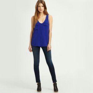 Joie Balsa Royal Blue Silk Tank Top   XS